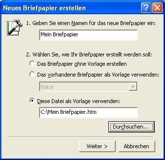 Eigenes Briefpapier In Outlook Pctipp Ch