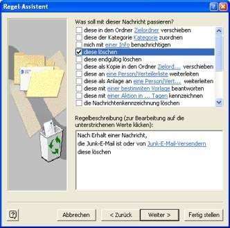 Junk-E-Mail automatisch löschen - pctipp.ch