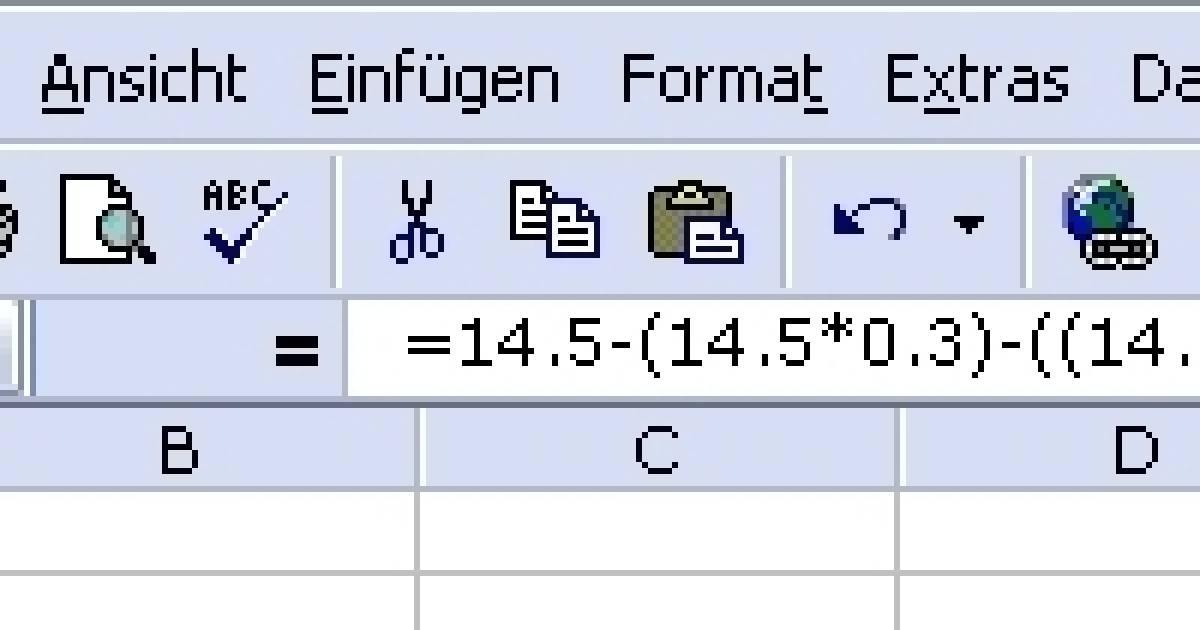 Excel prozent abziehen