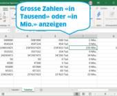 Screenshot Excel mit verschieden formatierten Zahlen