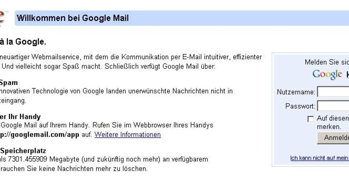 Google Mail Fehler 007