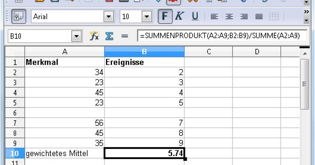 durchschnitt berechnen excel
