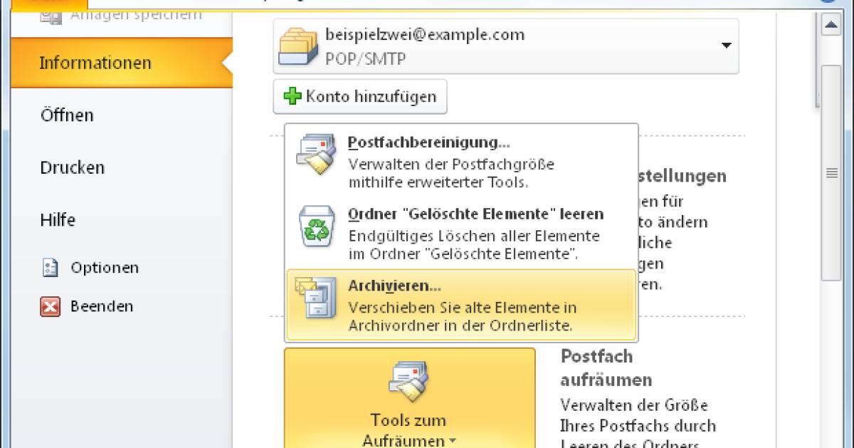 Outlook Registrieren