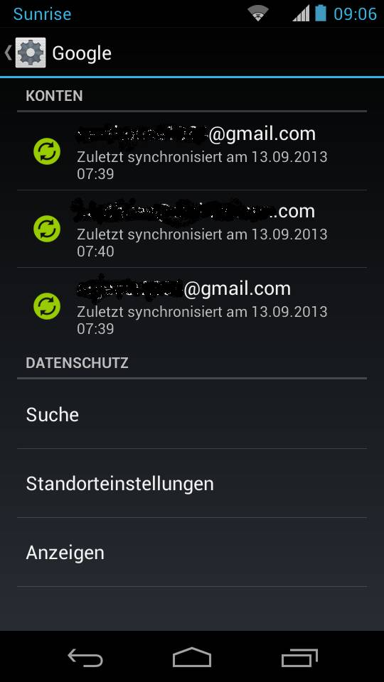 Mehrere Gmail Konten