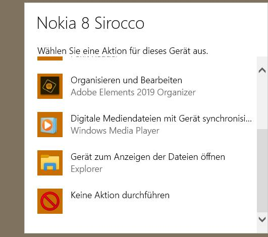 Windows fragt, was zu tun sei