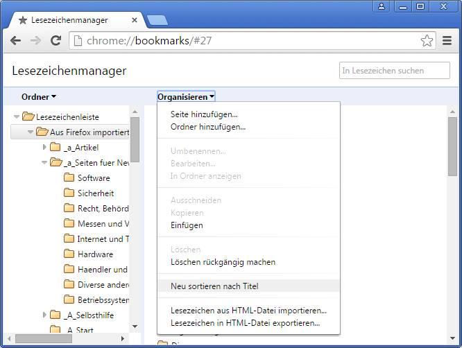Chrome Lesezeichen Anzeigen