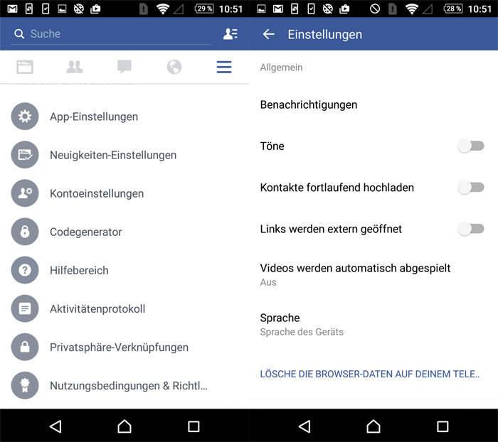 Facebook Töne Abstellen