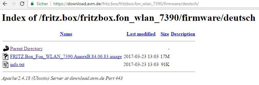 fritzbox 7490 firmware update ohne internet