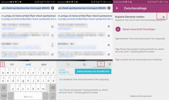Zwischenablage Löschen Android