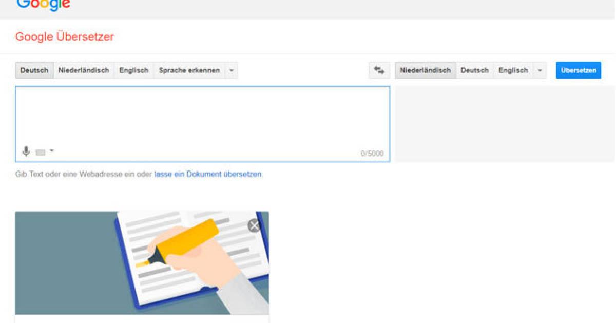 Google Online übersetzung