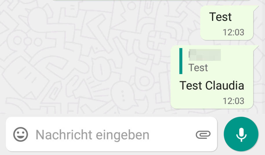Zitieren Bei Whatsapp