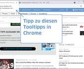 Chrome-Screenshot mit Tooltipp