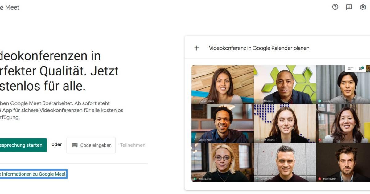 Google Meet Kostenlos