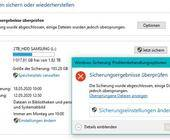 Windows-Backup findet ein Element nicht