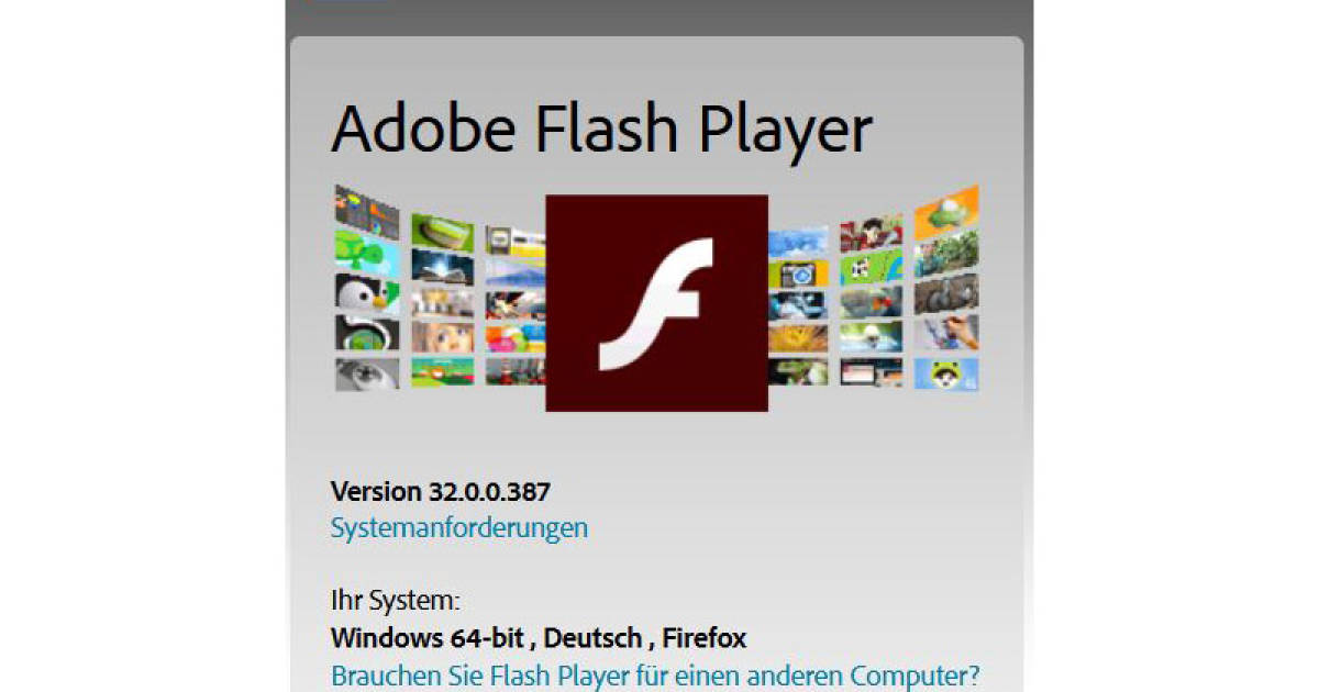 Ist Mein Adobe Flash Player Aktuell