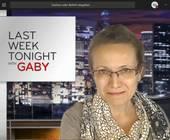 Fun-Hintergrund in Teams mit Gaby als Last Week Tonight Sprecherin