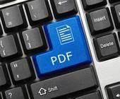 PDF-Taste auf Tastatur