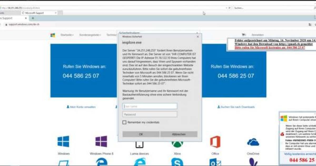 Gefälschte Viruswarnung im Namen von Microsoft - pctipp.ch