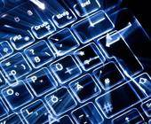 Beleuchtete PC-Tastatur