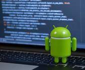 Android-Roboter auf PC-Tastatur