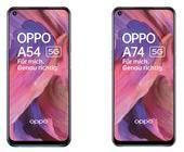 Die Oppo A54 und A74