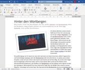 Word-Dokument mit Bild des Schriftzugs