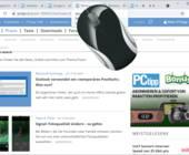 Chrome-Browser Screenshot mit darauf abgebildeter Maus