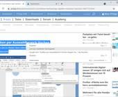 Screenshot Kontextmenü-Eintrag Link zum markierten Text kopieren