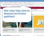 Screenshots zweier Firefox-Fenster mit mehreren geöffneten Tabs